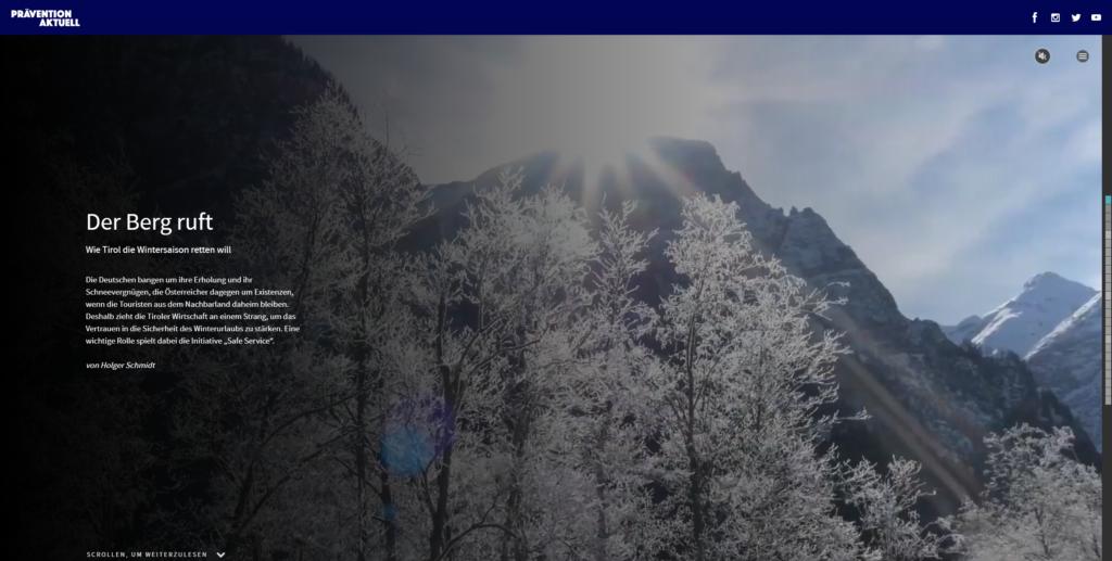 Winterlandschaft Tirol mit