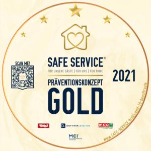 Sticker für SAFE SERVICE in gold
